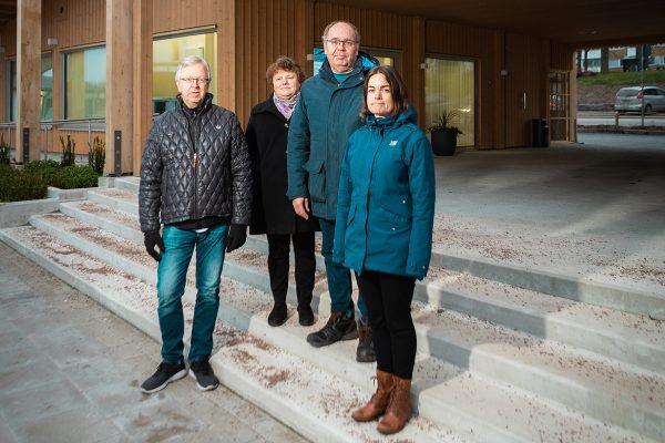 Ästerbottens fiskarförbunds personal på fyra personer