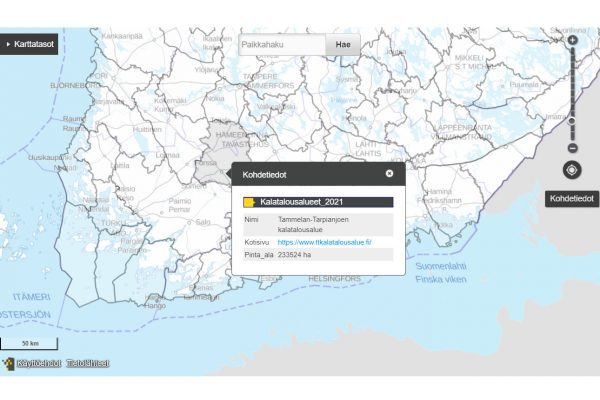 Fiskeriområden på kartan bild från netsida.