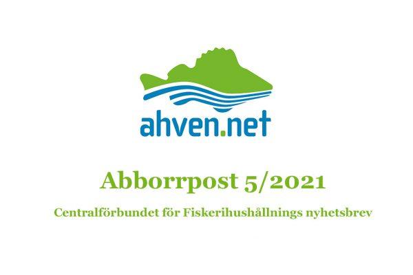 Abborrpost är Centralförbundet för Fiskerihushållnings elektroniska nyhetsbrev som du kan beställa direkt till din e-post.